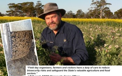 DPIRD – Be Biosecure for this Season's Farm Field Days 30July21 Media Release