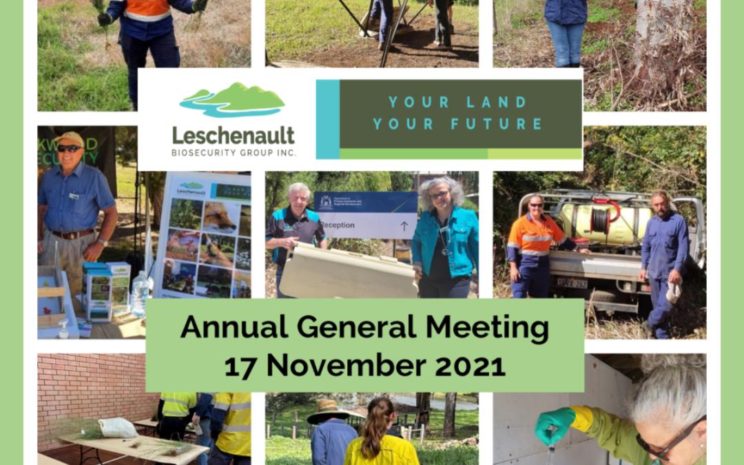 LBG Annual General Meeting 17 November 2021
